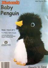 BABY PINGUINO GIOCATTOLO MORBIDO KIT-crea la tua-tessuto PELLICCIA-Regalo Bambini Sew