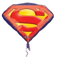 "Superman Emblem 26"" SuperShape Foil Balloon -Superhero Birthday Party Decoration"