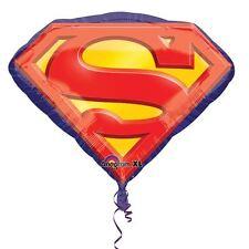 "Superman Emblem 26"" SuperShape Foil Balloon -Superhero Birthday Party Decoration"