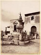 Crupi Friend Gloeden Taormina Women at the Fountain Large albumen ph. 1890c XL93