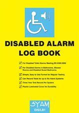 Libro de registro de alarma discapacitados-reglamento pruebas Syam DIS/LB1 Inodoro Cuarto De Baño