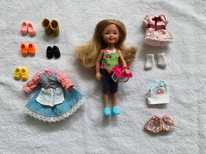 EUC Barbie Chelsea friend Viveca Doll & chameleon pet, clothes, shoes, and socks