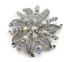Clear Fancy Austrian Rhinestone Crystal Superb Bridal Wedding Brooch Pin