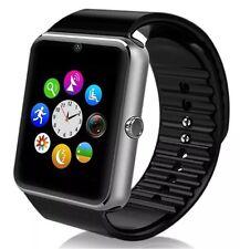 "Negro 1.54"" GT08 Pantalla táctil Bluetooth reloj inteligente teléfono Mate para Android iOS"