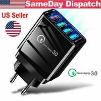 4 Multi Port Fast Quick Charge 3.0 USB Hub Wall Charger Adapter US/EU Plug |USA