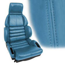 Leather Sport Seat Covers Mounted on Foam -Bright Blue (1989-1990 C4 Corvette)