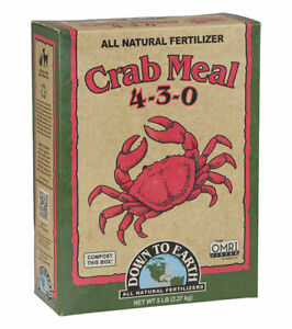 Down to Earth - Crab Meal (4-3-0) 5 LB - All Natural Organic Fertilizers