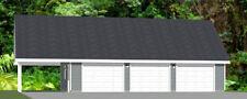40x24 3-Car Garage with Carport -- 1,493 sq ft -- PDF Floor Plan -- Model 8Q