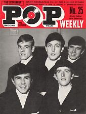 Pop Weekly Magazine 15 February 1964   Dave Clark  Five Rolling Stones  Ronettes