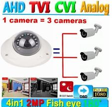 HD 1080P 2.0MP CCTV AHD TVI  CVI  Analog Camera 180° Fisheye 12PCS IR Night +OSD