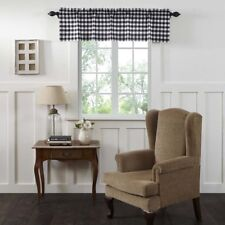 Cotton Valance in Antique White and Country Black ID 3735303