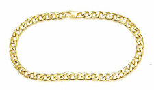 "14KT GOLD PLATED ANKLET FOOT BRACELET CUBAN CHAIN 10"" X 10MM - TOBILLERA PULSERA"
