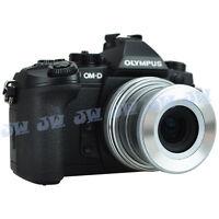 JJC Auto Open Lens Cap for Olympus M.ZUIKO DIGITAL ED 14-42mm f3.5-5.6 EZ Silver