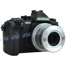 JJC Auto Open Lens Cap for Olympus M.ZUIKO DIGITAL ED 14-42mm Silver as LC-37C