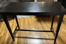 Rectangular Dining Room Counter Table By Ashley Furniture- Black Wood