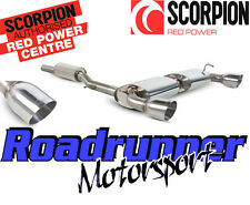 """Scorpion SVW040 Golf R32 MK4 Exhaust System Cat Back 70mm Resonated 4"""" Tails"""