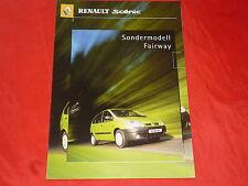 """Renault scenic """"Fairway"""" spécial modèle prospectus de 2000"""