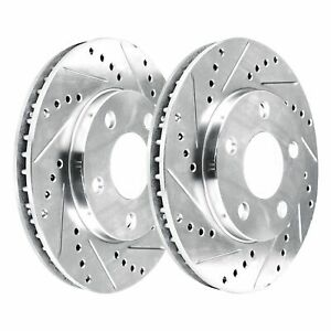 [FRONT KIT]  2 Platinum Hart *DRILLED & SLOTTED* Front Disc Brake Rotors - 2688