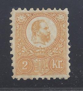 HUNGARY  1871  2k. ORANGE-YELLOW ENGRAVED ISSUE  MINT HINGED  SG 8