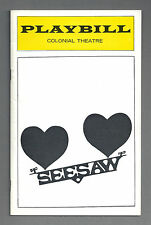 "Lucie Arnaz ""SEESAW"" Tommy Tune / Cy Coleman / Michael Bennett 1974 Playbill"