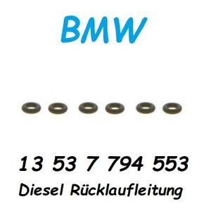 6x BMW 13537794553 O-Ring M57N2 N57 N57Z X S Diesel Rücklauf Injektoren Dichtung