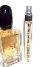 Giorgio Armani SI Eau de Parfum 10ml Glass SAMPLE Travel Purse EDP Spray