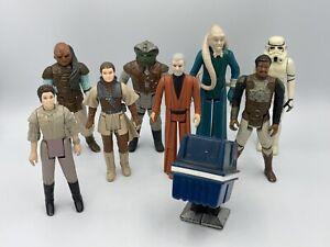 Kenner STAR WARS Vintage Lot 9 Figurines Loose 1977-1983 Leia Stormtrooper Etc