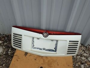 2004 CADILLAC CTS REAR LICENSE PLATE CLEAR PANEL with  brake light