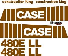 Reproduction CASE 480E LL Loader backhoe replacement decal kit