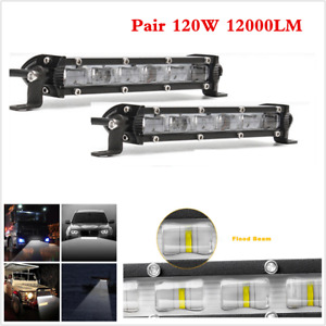 "Aluminum 2Pcs 7"" 120W Car SUV 6D Flood Beam Fog Driving Lamps LED Work Light Bar"