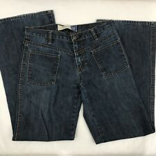 Gap Women's Pants Jeans Blue Flare Leg, Denim, 2 Pockets, Cotton Size 6