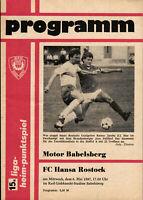 Programm 1985//86 BSG Stahl Eisenhüttenstadt Bau Rostock
