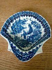 Antigüedad 1780 crema de mantequilla en forma de concha de vieira caughley PLATO Pescador Cormorán