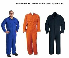 Mens Orange Navy Royal White Coveralls Overalls Suit Decorator Mechanic Workwear