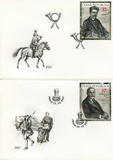 More details for czech rep 2017 fdc j. stribrny m. fatka 2v on 2 covers postal history stamps