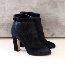 Dolce & Gabbana black suede leather ankle boots, size 7, EU 40