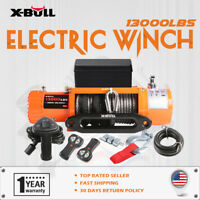 X-BULL Electric Winch 13000LBS 12V Waterproof Synthetic Rope Truck Trailer 4WD