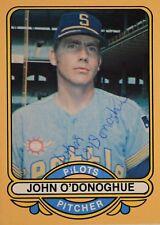 John O'Donoghue 1969 Seattle Pilots Autographed Signed Renata #13 Card