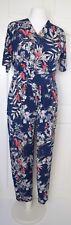 Kim & Co Brazil Jersey Short Sleeve Jumpsuit Navy / Red Size L BNWT NEW