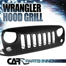 "2007-2016 Jeep Wrangler JK Matte Black ""Angry Bird"" Style Front Grill Grille"