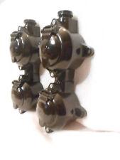 Originale Bakelit doppel Steckdose Kombi Schuko Aufp.schwarz Feuchtraum Schalter