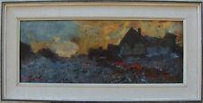 Arne Aspelin 1911- 1990, Haus im Morgenrot , pastos gemalt, um 1960