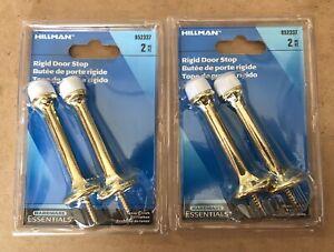 """4x Hillman Door Stop Solid Brass Rigid Doorstop Door Stopper 3"""""""