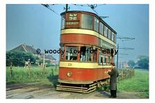 pt9234 - Leeds Tram no 221 to Depot at Middleton in 1958 - photograph