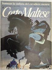 CORTO MALTESE n° 6 del  1989 con inserto SUPERMAN - BATMAN IL CAVALIERE OSCURO
