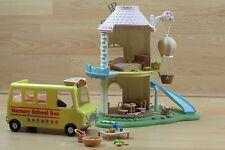 Sylvanian Families Primrose Baby Windmill Nursery School Bus Accessories No Figs