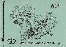 1971 GB QEII POST OFFICE 50P STITCHED STAMP BOOK SG DT3 HONEYSUCKLE AUGUST