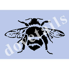 Bee Stencil Bees BIG BUMBLE BEE A4 Mylar Shabby Chic Wall Furniture Fabric 003