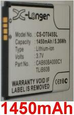 Battery 1450mAh type CAB60BA000C1 TLiB60B For Alcatel One Touch Shockwave