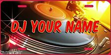 DJ TURNTABLE License Plate, can be personalized  Made in USA